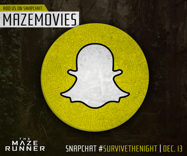 the maze runner snapchat